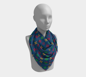 The Louise Square Scarf in Blue
