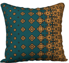 Load image into Gallery viewer, The Lucinda Pillow in Green and Gold