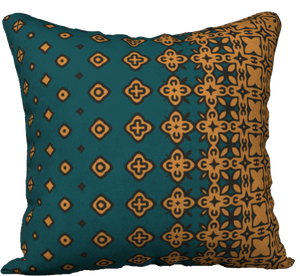 The Lucinda Pillow in Green and Gold