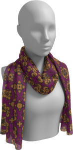 The Lucy Long Scarf in Magenta and Gold