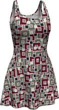 Load image into Gallery viewer, The Marguerite Flare Dress in Neutral and Maroon