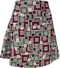 Load image into Gallery viewer, The Marguerite Flare Skirt in Neutral and Maroon