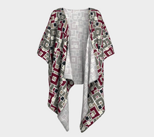 Load image into Gallery viewer, The Marguerite Kimono in Neutral and Maroon-Clash Patterns