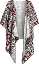 Load image into Gallery viewer, The Marguerite Kimono in Neutral and Maroon