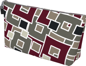 The Marguerite Makeup Bag in Neutral and Maroon