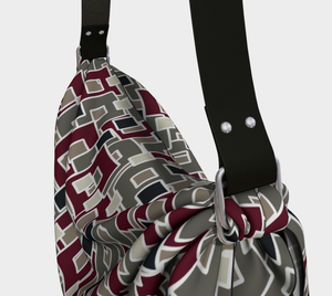 The Marguerite Origami Bag in Neutral and Maroon-Clash Patterns