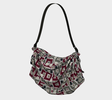 Load image into Gallery viewer, The Marguerite Origami Bag in Neutral and Maroon-Clash Patterns