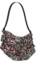 Load image into Gallery viewer, The Marguerite Origami Bag in Neutral and Maroon-Origami Tote-Clash Patterns by Jennifer Akkermans
