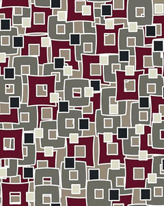 The Marguerite Print-at-Home Art Print in Neutral Maroon - Digital Download-Clash Patterns