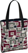 Load image into Gallery viewer, The Marguerite Tote Bag in Neutral and Maroon