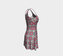 Load image into Gallery viewer, The Marianne Flare Dress in Red-Clash Patterns
