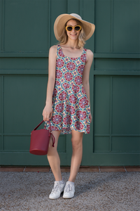 The Marianne Flare Dress in Red