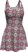 Load image into Gallery viewer, The Marianne Flare Dress in Red-Flare Dress-Clash Patterns by Jennifer Akkermans