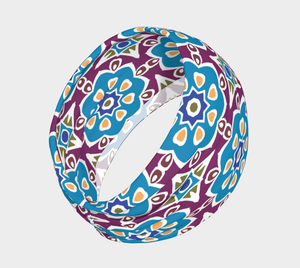 The Marianne Headband in Blue-Clash Patterns