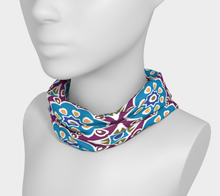 Load image into Gallery viewer, The Marianne Headband in Blue-Clash Patterns