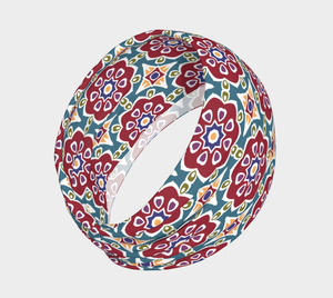 The Marianne Headband in Red-Clash Patterns