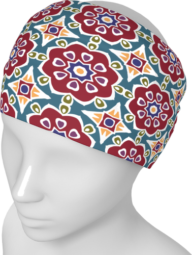 The Marianne Headband in Red-Headband-Clash Patterns by Jennifer Akkermans