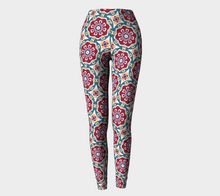 Load image into Gallery viewer, The Marianne Leggings in Red-Clash Patterns