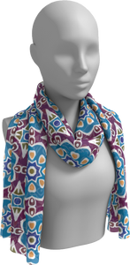 The Marianne Long Scarf in Blue