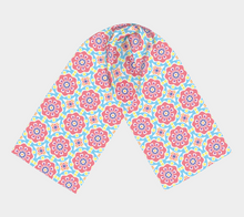 Load image into Gallery viewer, The Marianne Long Scarf in Pink-Clash Patterns