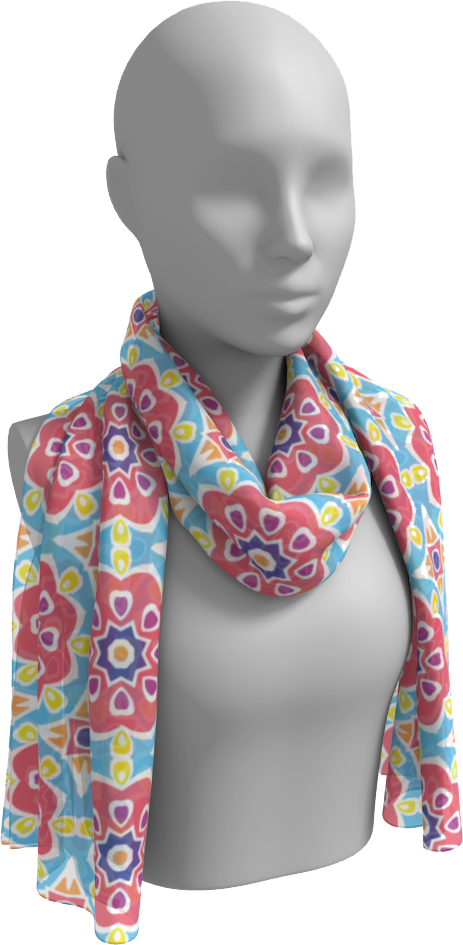The Marianne Long Scarf in Pink