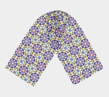 Load image into Gallery viewer, The Marianne Long Scarf in Purple-Clash Patterns