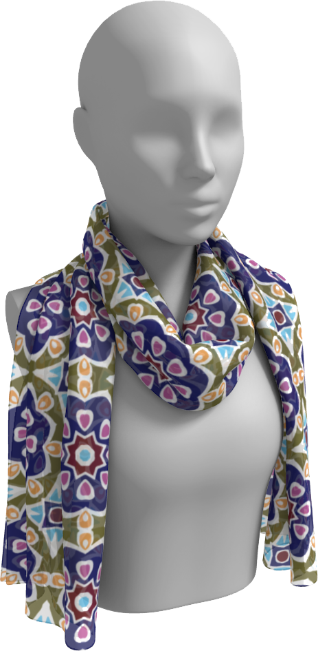 The Marianne Long Scarf in Purple