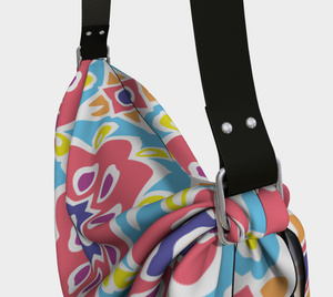 The Marianne Origami Bag in Pink-Clash Patterns