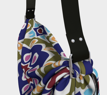 Load image into Gallery viewer, The Marianne Origami Bag in Purple-Clash Patterns