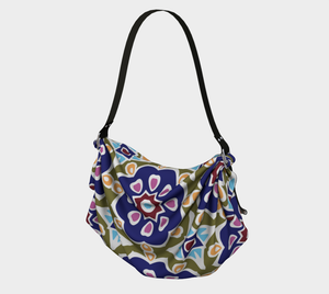 The Marianne Origami Bag in Purple-Clash Patterns