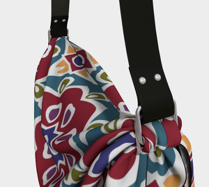 The Marianne Origami Bag in Red-Clash Patterns