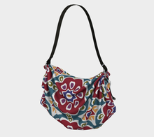Load image into Gallery viewer, The Marianne Origami Bag in Red-Clash Patterns