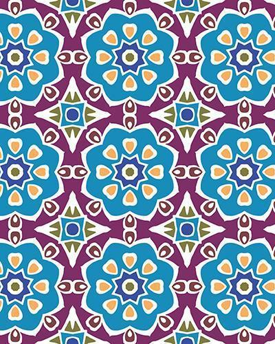 The Marianne Print-at-Home Art Print in Blue (Tiled) - Digital Download-Clash Patterns