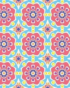The Marianne Print-at-Home Art Print in Pink (Tiled) - Digital Download-Clash Patterns