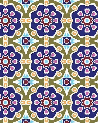 The Marianne Print-at-Home Art Print in Purple (Tiled) - Digital Download-Clash Patterns