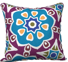 Load image into Gallery viewer, The Marianne Reversible Pillow in Blue