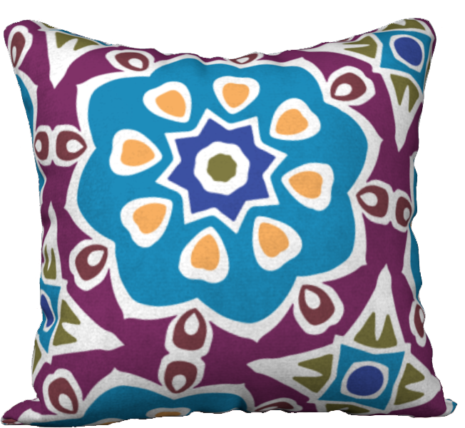 The Marianne Reversible Pillow in Blue