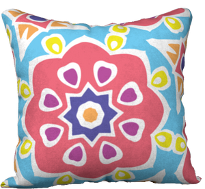 The Marianne Reversible Pillow in Pink