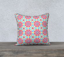 Load image into Gallery viewer, The Marianne Reversible Pillow in Pink-Clash Patterns