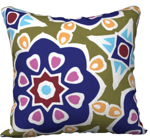 The Marianne Reversible Pillow in Purple