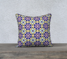 Load image into Gallery viewer, The Marianne Reversible Pillow in Purple-Clash Patterns