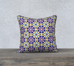 The Marianne Reversible Pillow in Purple-Clash Patterns