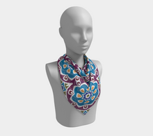 Load image into Gallery viewer, The Marianne Square Scarf in Blue