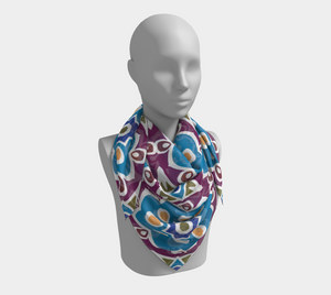 The Marianne Square Scarf in Blue