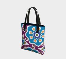 Load image into Gallery viewer, The Marianne Tote Bag in Blue-Clash Patterns