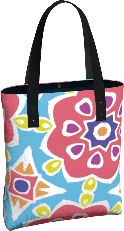 The Marianne Tote Bag in Pink-Tote Bag-Clash Patterns by Jennifer Akkermans