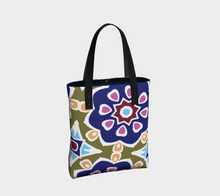 Load image into Gallery viewer, The Marianne Tote Bag in Purple-Clash Patterns