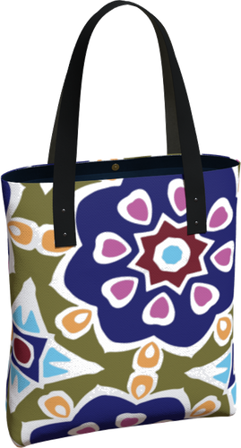 The Marianne Tote Bag in Purple-Tote Bag-Clash Patterns by Jennifer Akkermans