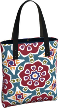 Load image into Gallery viewer, The Marianne Tote Bag in Red-Tote Bag-Clash Patterns by Jennifer Akkermans