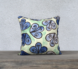 The Mildred Watercolour Pillow-Clash Patterns